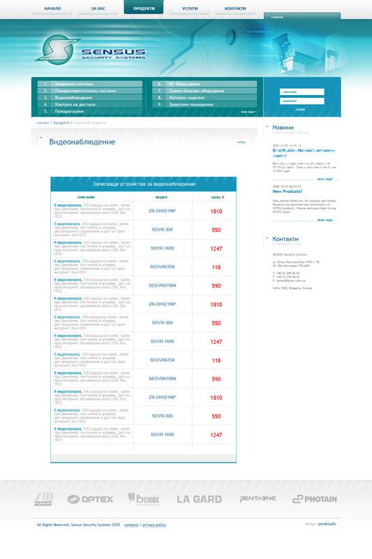 Sensus.bg - преглед продукти